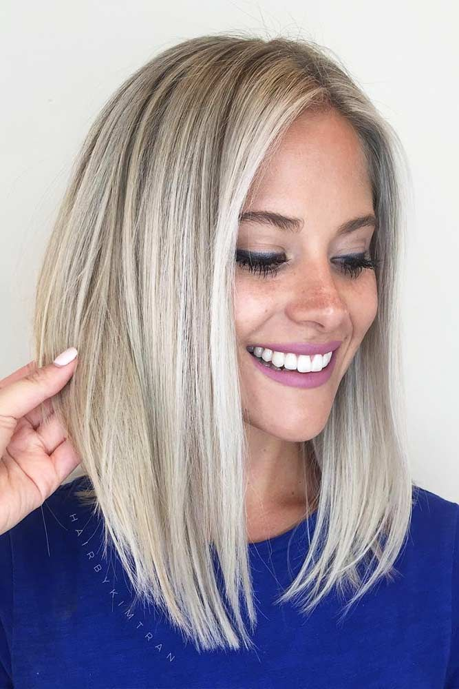 Long Bob Hairstyles 24 Amazing Ideas For Long Bob Haircuts  Pinterest  Straight Long
