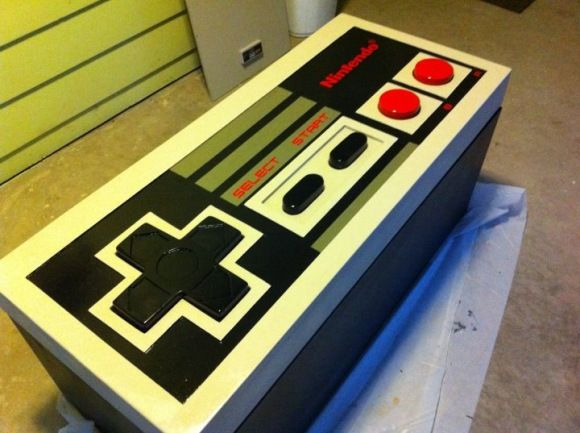 I wanna build this, if for no other reason, to watch Noah play Super Mario Brothers with it.