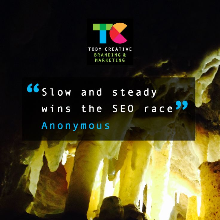 """""""Slow and steady wins the SEO race"""" - Anonymous There are no shortcuts to good quality, long lasting, organic SEO results. Talk to the team of local Perth SEO experts at Toby Creative. We offer a free, no-obligation meeting and marketing report. We are happy to discuss your individual business marketing requirements and outline how we can assist you. Phone (08) 9386 3444 or visit https://tobycreative.com.au/ #tobycreative #branding #marketing #seo #ppc #smm #perth"""