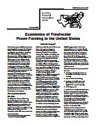 Economics of Freshwater Prawn Farming in the United States