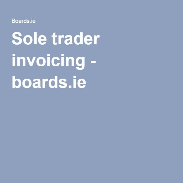 Sole trader invoicing - boards.ie