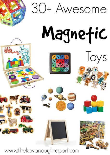 30 Awesome Montessori Friendly Magnet Toys - fun ways to play with magnets for babies, toddlers, preschoolers and older children. These natural choices are perfect for STEM play!