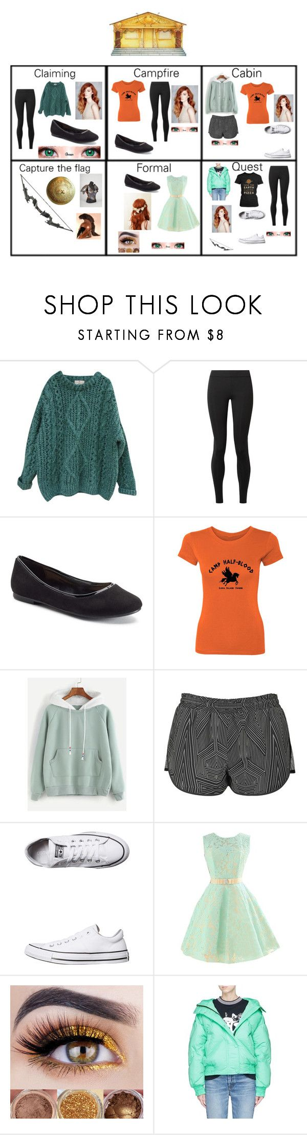 """""""PJO Fiona"""" by kawaiifangirl11 ❤ liked on Polyvore featuring Essentiel, The Row, LC Lauren Conrad, Eos, Topshop, Converse and Ienki Ienki"""