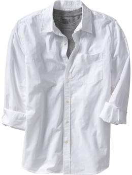 Old Navy Big & Tall Men's Classic-Fit Dress Shirt in white - Old Navy - $25