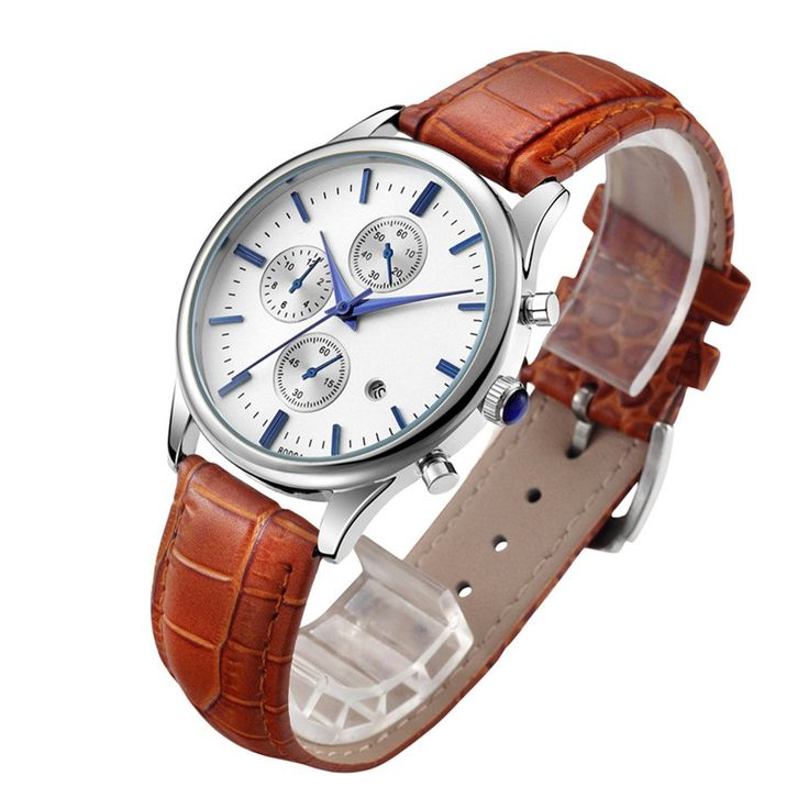 Casual Leather Strap Men's Waterproof Watches