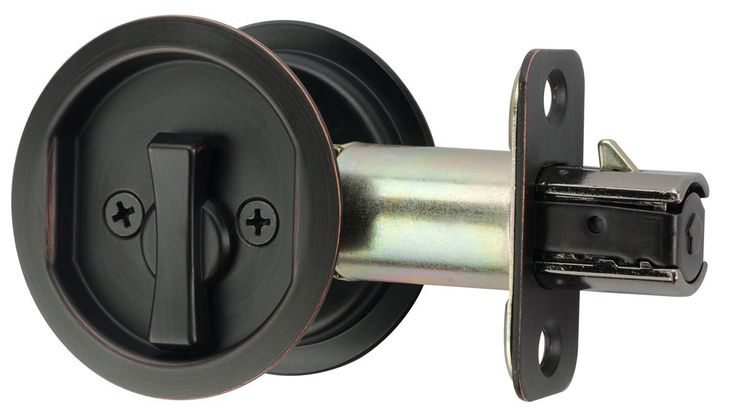 Citiloc Round Bed / Bath Privacy Pocket Door Latch Oil Rubbed Bronze - - Amazon.com