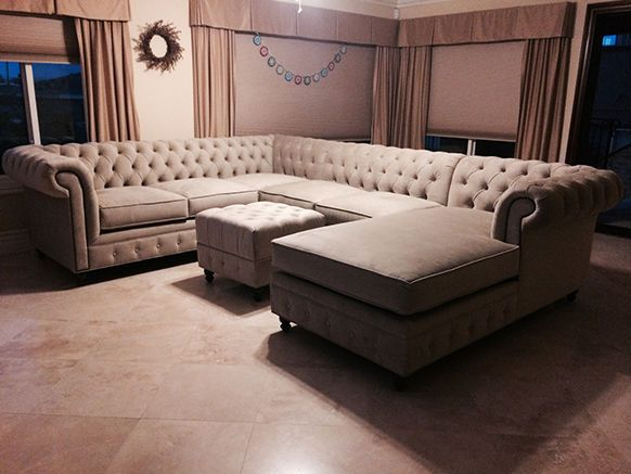 Attractive Custom CHESTERFIELD Sofa Or Sectional. Leather Or Fabric. Ships Nationwide.