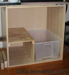 cat litter tray furniture - this is a good idea. It would stop most of the cat dirt from getting out