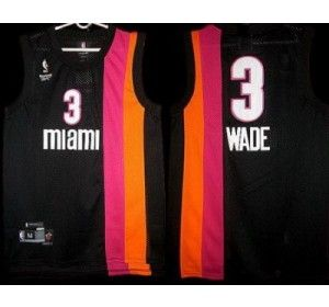 393f82653 ... Miami Floridians 3 Dwyane Wade Black ABA Hardwood Classic Swingman  Jersey - Miami Heat - NBA ...