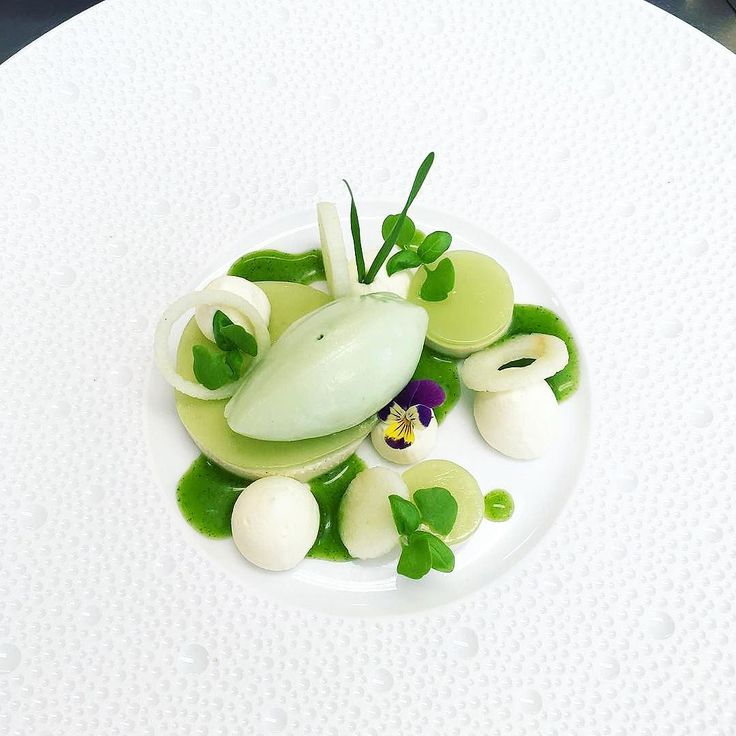 [green apple] by @annekeverhagen1248 ・・・ Green apple | Lemon leave | cinnamon | kafir lime. If you also want to get featured and get the opportunity to share your story about your meal at berlinerspeisemeisterei just tag your best dish with #instagramselected and wait for my respond! #icecream #wildchefs #theartofplating #food #foodporn #vscocam #instafood #yummy #instagood #photooftheday #sweet #dinner #expertfoods #tasty #DessertMasters #delicious #GastroArt #foodpic #foodpics…