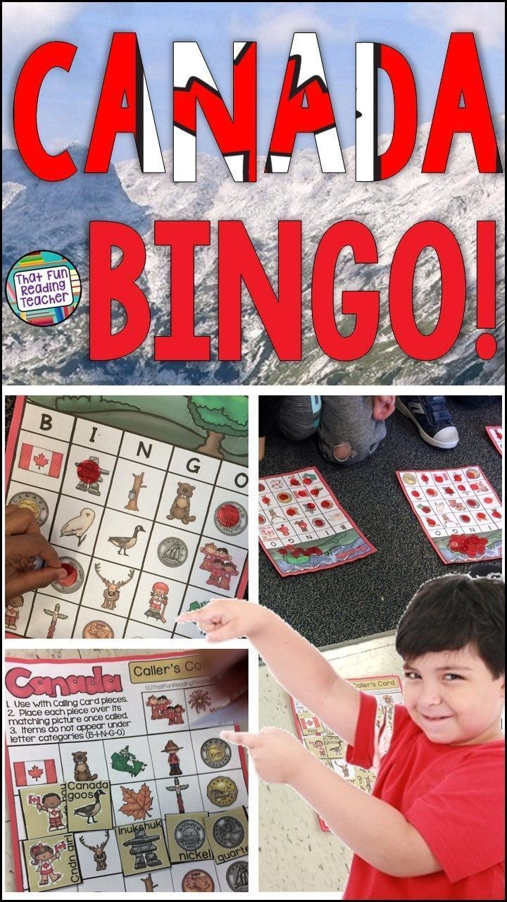 My primary students love this BINGO game! Great activity for teaching kids about Canada, its' symbols, coins and more! Just updated to include 30 player cards! $