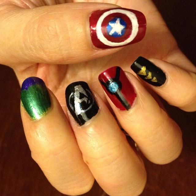 Avengers inspired nail art, part 2 // Bad-Mushroom
