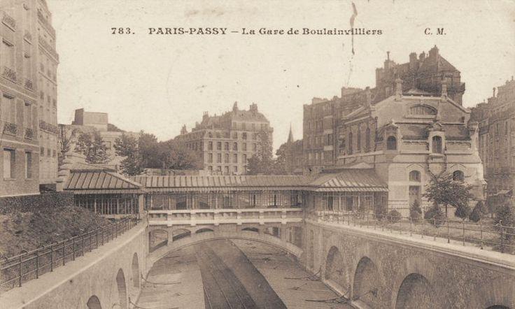 Les gares du Paris d'antan La gare de Boulainvilliers (16ème arrondissement) vers 1900.