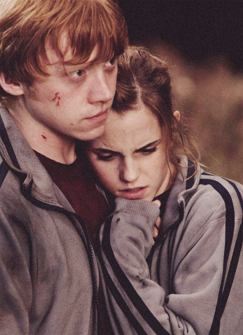 Observation one: Hermione's Physical Development. A huge part of physically develops throughout puberty, is the arrival of sexual feelings and thoughts. Throughout the books, Hermione and Ron become a lot closer emotionally and in the end of the series, they begin to get closer intimately. They fall in love after many years of being best friends. During sexual development, females also develop breasts and widening of hips. This type of development is seen throughout the years.