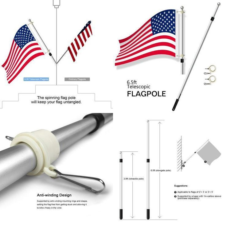 Lavievert flagpole adopts precision procession ball bearing, allowing the flag to billow freely in the wind. Such a creative design can effectively prolong the lifespan of the flag, thus preventing it from being torn. ANTIRUST MATERIAL - Constructed by heavy duty aluminum alloy, lightweight and able to withstand inclement weathers of all types, leaving no rust stain on your flag.