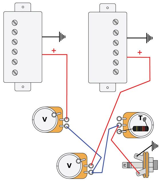 Mod Garage: Les Paul Master Wiring #2 | Wirings | Guitare,Lutherie ja Musique