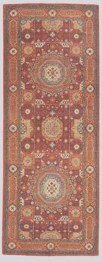 Han-knotted Indian rug. 3'x 8' #NasserLuxuryRugs #RunnerruginMamlukstyle