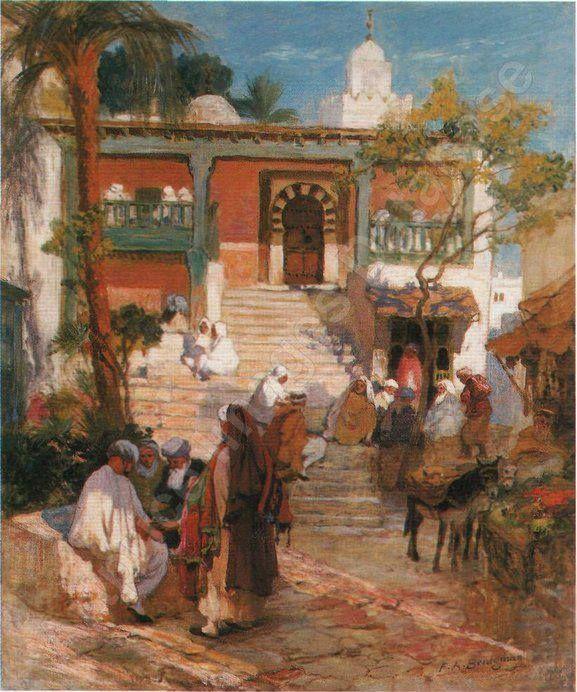 Peinture Tunisie - Frederick Arthur Bridgman - Sidi Bou Said.