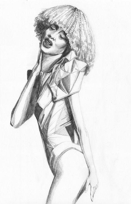 Fashion Illustration, Pencil