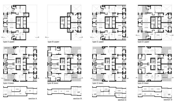 Lakóhelyek elemzése » HBT: Charles Correa – Kanchanjunga Apartments