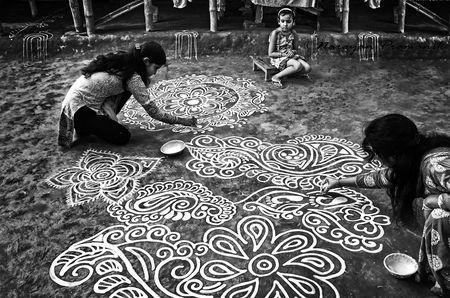 Alpana (A design to welcome the goddess) Photo by Narayan Pramanik — National Geographic Your Shot
