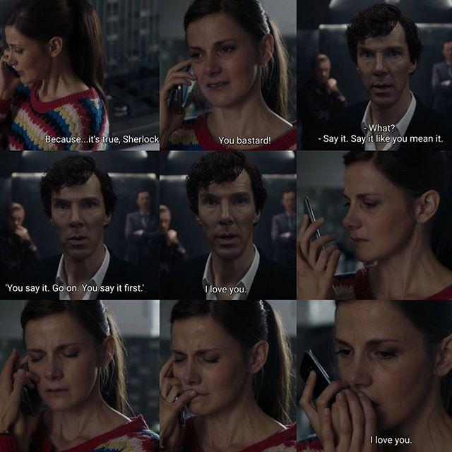 Acho que essa cena resume o sentimento de todos os fãs de #Sherlock diante da #S04E03 #spoilers 😱😱😱😱😱 #Fighting #hwating 💪💪💪#benedictcumberbatch #louisebrealey #martinfreeman #markgatiss