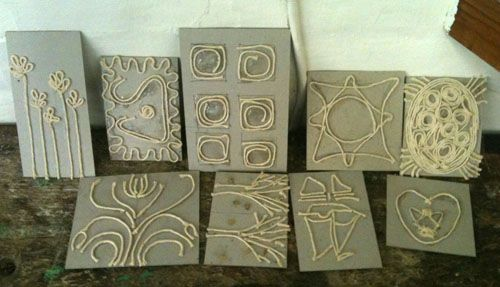 Selection of Collograph Plates