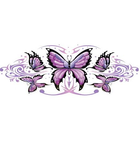 purple butterflys - love this!!! maybe wrapped around my arm...