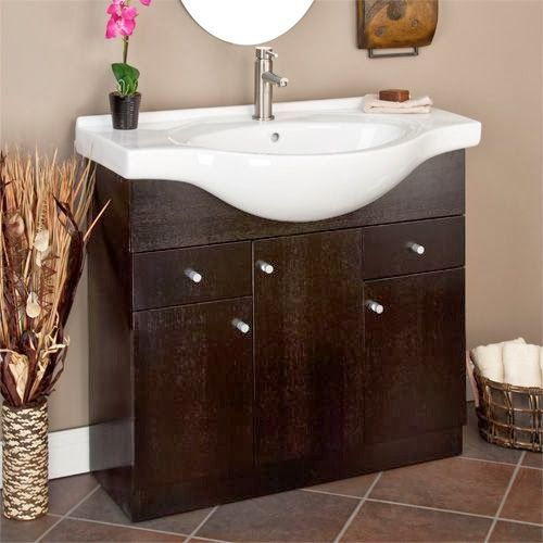 Best 25 bathroom vanities without tops ideas on pinterest - Sinks and vanities for small bathrooms ...