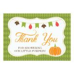 Little Pumpkin Thank You Card Fall Autumn Card