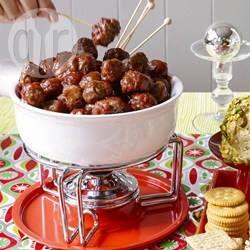 Foto recept: Zoete en kruidige cocktail gehaktballetjes