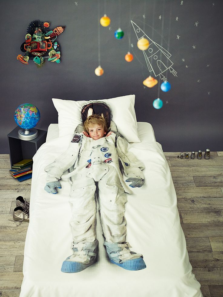 for the small bedroom, graham and greene's astronaut duvet set