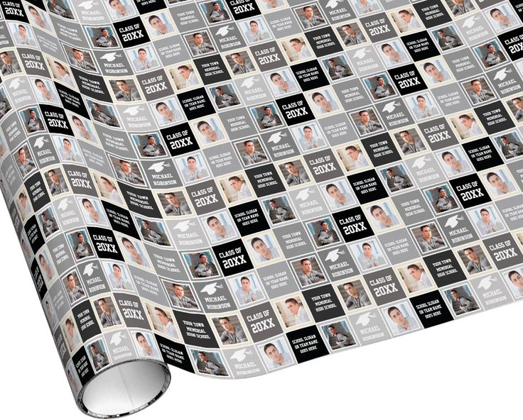 Wrapping paper for a son or boyfriend's graduation gift.