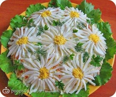Украшение салатов до 8 березня