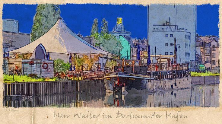 """HERR WALTER –DAS EVENTSCHIFF IM DORTMUNDER HAFEN Das Club- und Eventschiff """"Herr Walter"""" ist ein umgebautes Schüttgüterschiff und liegt seit 2011 im Dortmunder Hafen vor Anker. Es lief 1901 in Rathenow an der Havel vom Stapel und diente mehrere Jahrzehnte als Schleppkahn auf europäischen Flüssen und Kanälen. Nach einer Verlängerung des Schiffsrumpfes um 14 Meter in den 1970er- Jahren, ist das Schiff heute ca. 6 m breit und 60 m lang. Somit bietet der Koloss aus Stahl und Eisen nach einer…"""