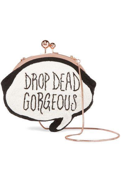 SOPHIA WEBSTER Drop Dead Gorgeous beaded cotton clutch€925