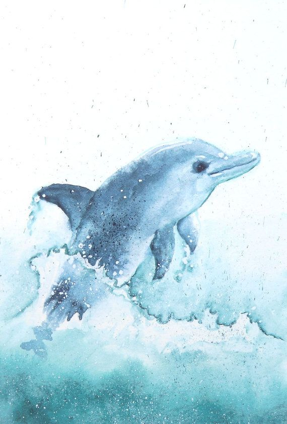 Easy Painting On Canvas For Kids Dolphin