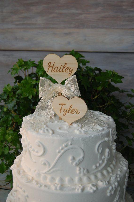 Rustic Cake Topper Engraved By Myrusticweddings 24 50