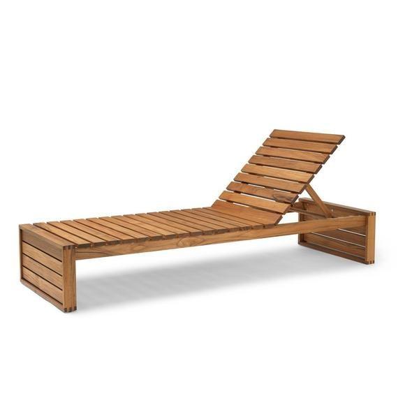 Bk14 Sunbed Elegant Outdoor Furniture Teak Chaise Lounge Beautiful Outdoor Furniture