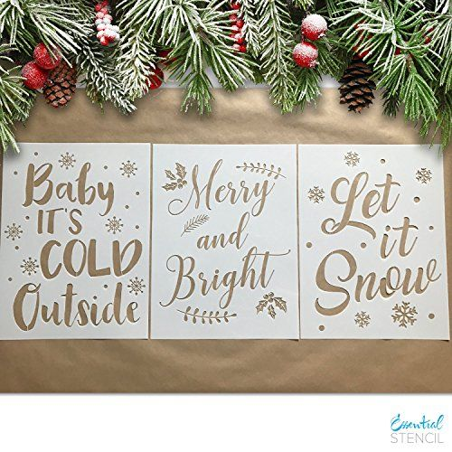 Large Christmas Stencils For Wood.Large Christmas Stencils 3 Pack Baby It S Cold Outside