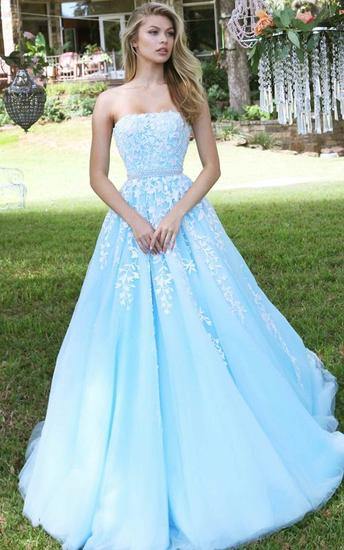 2017 Blue Beaded Tulle Senior Sexy Prom Gown
