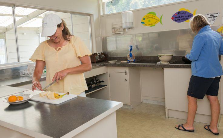 Te Tiriti Lodge - Main kitchen area, plenty of room to cook.