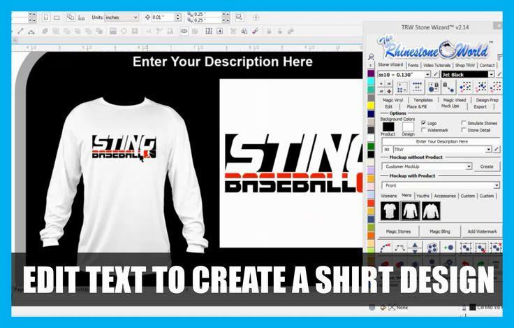 Editing Text in CorelDRAW to make a Baseball Shirt Design