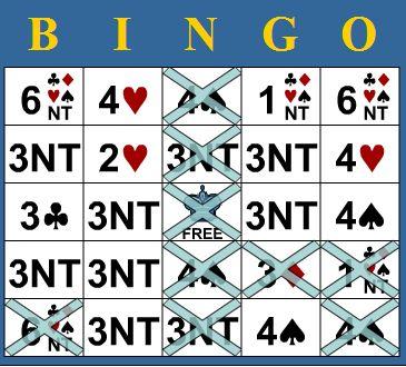 Bridge Bingo card