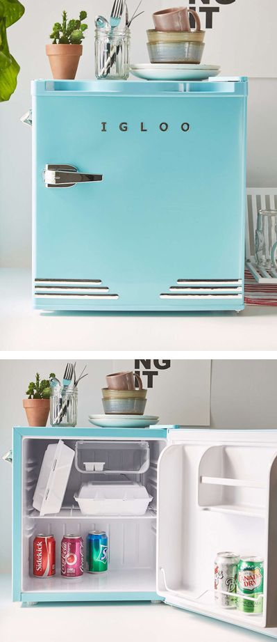 Get extra chilled storage with this retro-inspired Blue Mini Fridge. Features built-in bottle opener + pull handle for easy access. Includes 2L door basket, ice cube tray + slide out shelf for plenty of storage options. Finished with adjustable legs so you can put it just about anywhere. Perfect size for dorms! $149. Free shipping. … … Continue reading →