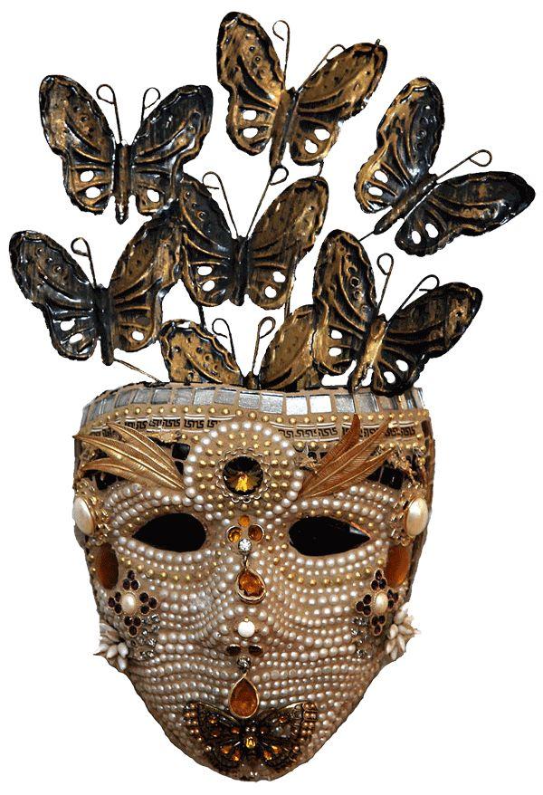 Creative Mind, mosaic mask by Susan Wechsler. #Masks #Mosaics