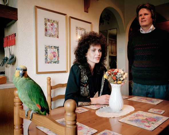 signs of the times (witty portrayal of british domestic life in the 1990s) by martin parr @ beetles & huxley, london