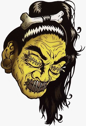 Tiki Shrunken Heads | Details about COOL SHRUNKEN HEAD HOTROD Kulture DECAL/VINYL STICKER