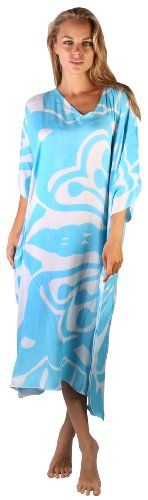 Maxi Caftan Poncho Butterfly Blue. One size poncho-style caftan is attractive on slim to plus size body types. Tropical dramatic Swirl print. Easy wear over swimwear for beach or poolside. Features flattering V neckline and Butterfly Sleeves. Handcrafted in the magical land of Bali with the utmost care and integrity.