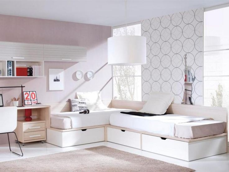 Corner Layout Full Size Twin Beds With Storage Drawers